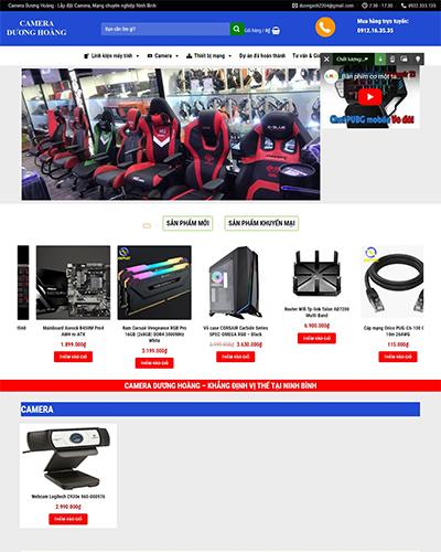 Mẫu website bán máy tính công ty Dương Hoàng