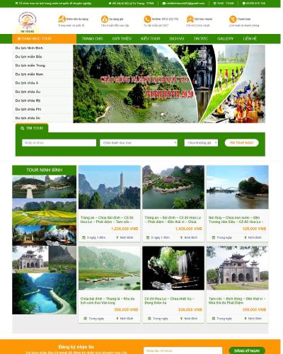 Website Công ty CPDV Du lịch Ninh Bình