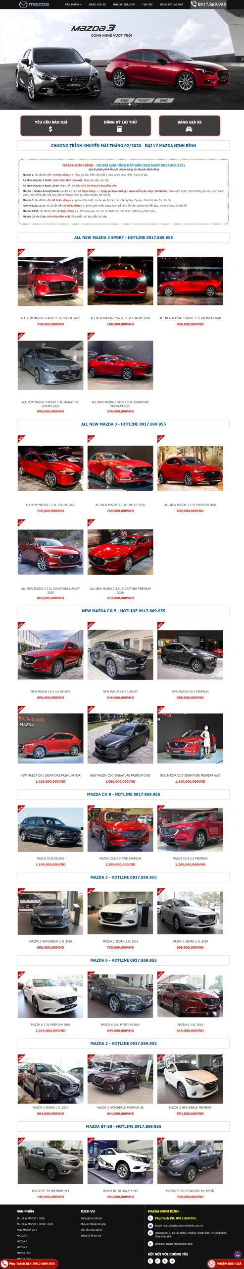 Showroom Ôtô Mazda Ninh Bình