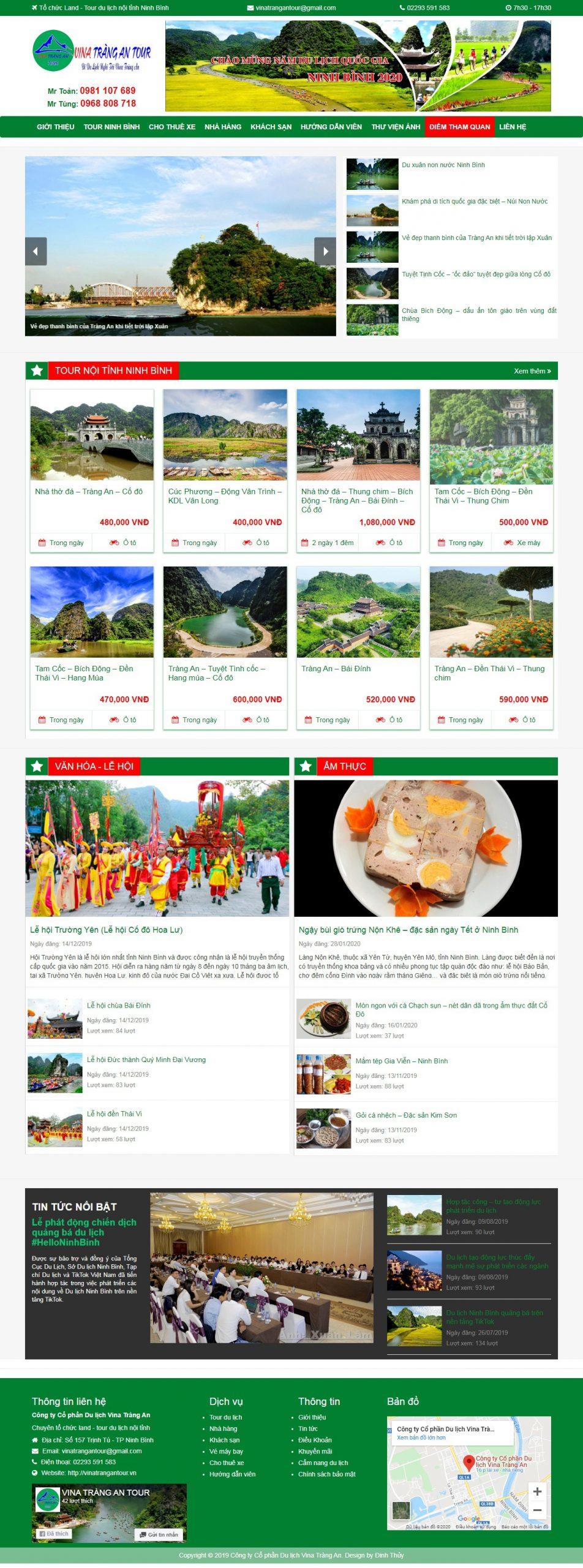 Website Công ty CPDL Vina Tràng An