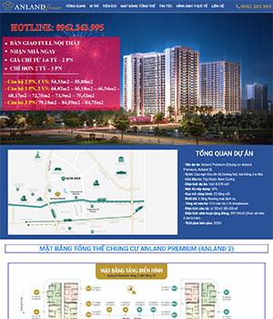 Mẫu website bất động sản Chung cư Anland
